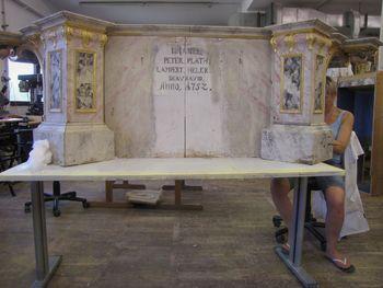 Restavriranje oltarja in prižnice