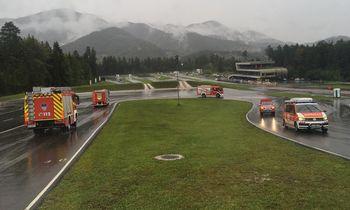 Gasilci GZ Vrhnika v centru varne vožnje na Vranskem