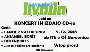 Ansambel Livada vabi na koncert ob izdaji zgoščenke