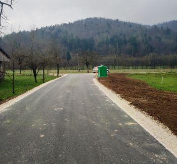 Prva faza obnove ceste na Dražico