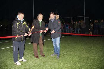 Slovesna otvoritev novega igrišča z umetno travo