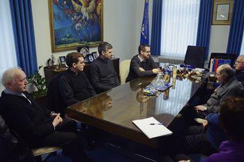 Župan sprejel duhovnike