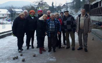 Predbožični balinarski turnir pri Kranjcu na Vrhniki