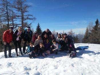 Po ledu in snegu do čudovitega razgleda z Dobrče