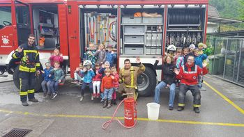 Uspešno sodelovanje vrtca in gasilcev