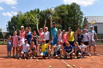 Druženje Blaža Kavčiča s tenisači TK Bobi