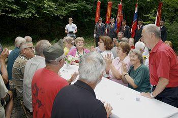 Spominska svečanost na kraju napada na zemljanko v Šumniku