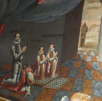 V knjigi o gradu Khisl tudi slika iz cerkve sv. Elizabete na Podrebri
