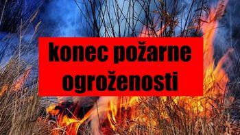 Konec požarne ogroženosti