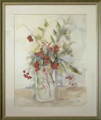 Vabljeni v Cankarjevo knjižnico na razstavo akvarelov Emilije Erbežnik