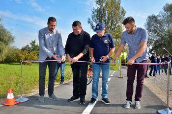 Teden mobilnosti: Slovesno odprli kolesarsko in pešpot ob Zlatici