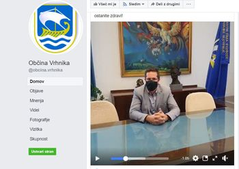 Video nagovor župana ob epidemiji