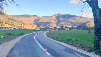 Zaključen prvi del rekonstrukcije ceste v Kote