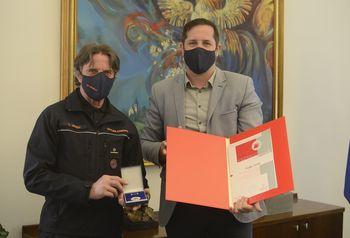 Vojko Jerina prejel srebrni znak Civilne zaščite