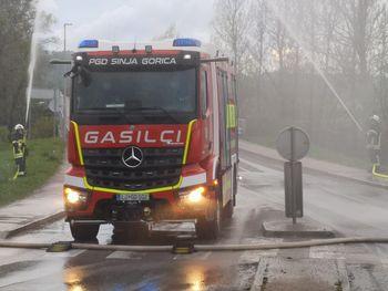 Sinja Gorica: zaradi vaje bo večje število intervencijskih vozil