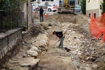 Na Gradišču naleteli na rimsko utrdbo