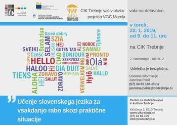 Delavnica VGC Marela: Učenje slovenskega jezika