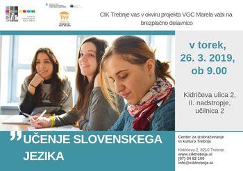 Delavnica VGC: Učenje slovenskega jezika