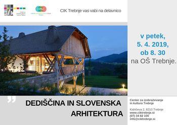 Delavnica CMU: Dediščina in slovenska arhitektura