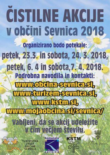Pomladansko urejanje 2018  - napoved čistilnih akcij v občini Sevnica