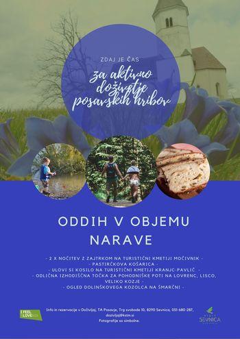 Vabljeni v Sevnico - vikend paket - oddih v objemu narave