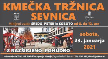 Kmečka tržnica v Sevnici - sobota, 23.1.2021 od 8. do 12. ure, razširjena ponudba