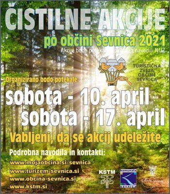 Moja dežela, lepa in gostoljubna  - čistilne akcije, občina Sevnica