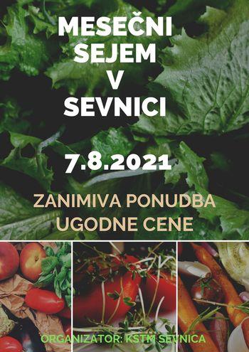 Tradicionalni mesečni sejem v Sevnici