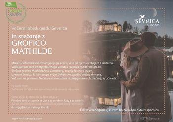Večerni obisk gradu Sevnica in srečanje z grofico Mathilde