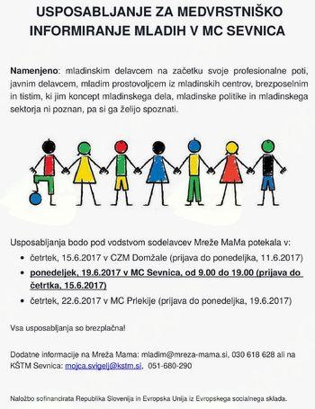 Usposabljanje za mlade v MC Sevnica