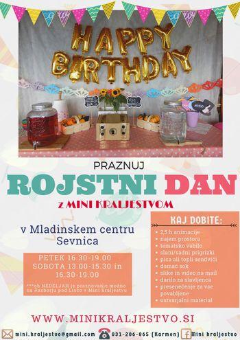 Praznovanje rojstnih dni v MC Sevnica
