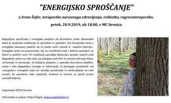 """""""Energijsko sproščanje""""  z Ireno Šafer"""