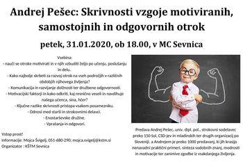 Andrej Pešec: Skrivnosti vzgoje motiviranih, samostojnih in odgovornih otrok