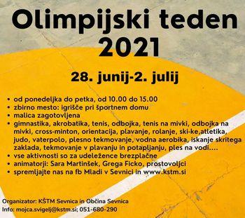 Olimpijski teden 2021