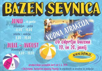 Odprtje Bazena Sevnica z vodno atrakcijo