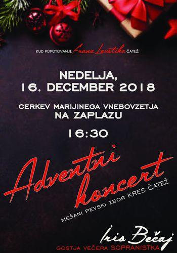 Adventni koncert MePZ KRES Čatež