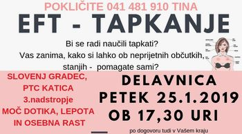 EFT tapkanje Uvodna delavnica Slovenj Gradec