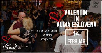 Valentinov salsa žur z Alma Eslovena