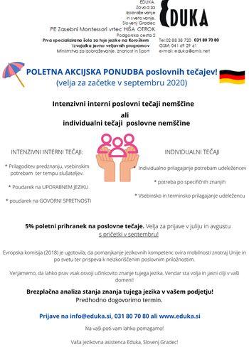 Poletna akcijska ponudba poslovnih tečajev!