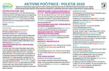 AKTIVNE POLETNE POČITNICE 2020