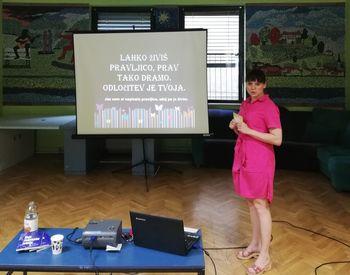 Predavanje avtorice Petre Strelec v MC Sevnica