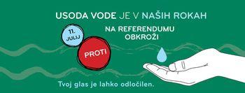 Vabilo na referendum o noveli Zakona o vodah, 11. 7. 2021