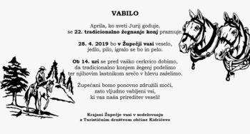 22. žegnanje konj v Župečji vasi