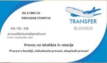 Prevozi oseb, individualni prevoz, kombi prevoz