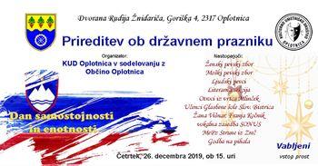 Raznolik kulturni program na proslavi ob državnem prazniku