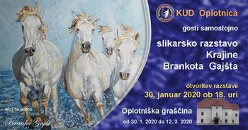 Samostojna slikarska razstava Branka Gajšta