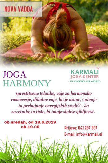 JOGA HARMONY (NOVA VADBA)-BREZPLAČNO