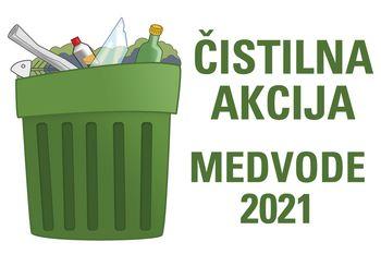 Čistilna akcija v Medvodah 2021
