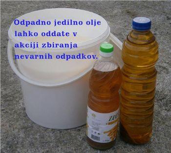 Zbiranje nevarnih odpadkov in odpadnega jedilnega olja iz gospodinjstev