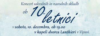 Koncert ob 10. obletnici delovanja MoPZ sv. Štefan Vipava